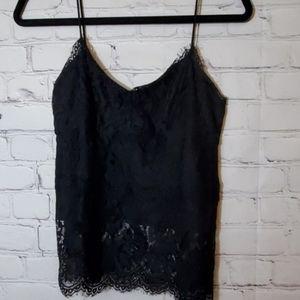Topshop Black Lace Top
